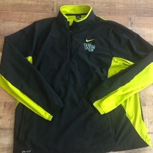 Nike Drifit 1/2 Zip Pullover 2XL Wake Forest Black